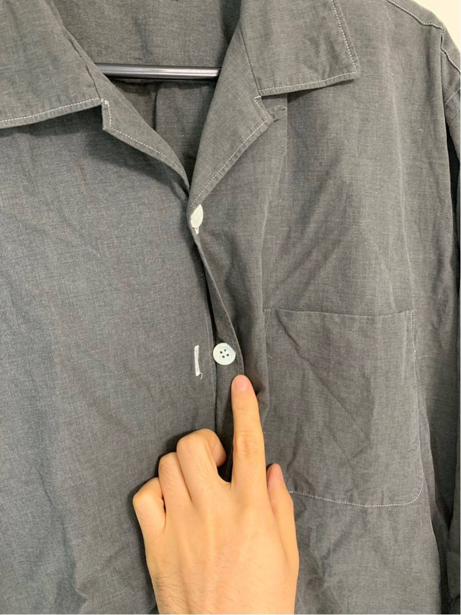 希少 ビンテージ COMME des GARCONS コムデギャルソン 長袖シャツ シャツ ステッチ デザイン オープンカラーシャツ ボタンデザイン ◎ _画像2