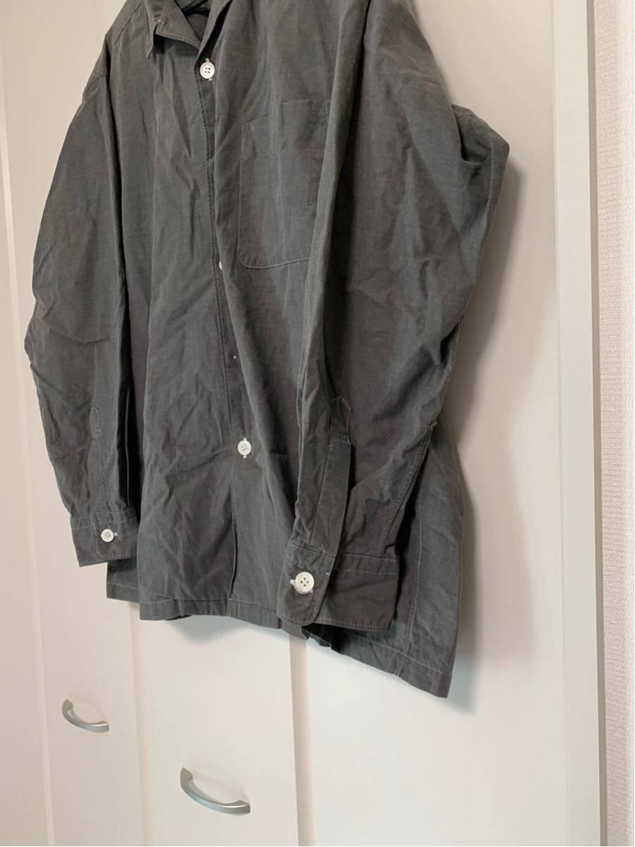 希少 ビンテージ COMME des GARCONS コムデギャルソン 長袖シャツ シャツ ステッチ デザイン オープンカラーシャツ ボタンデザイン ◎ _画像4