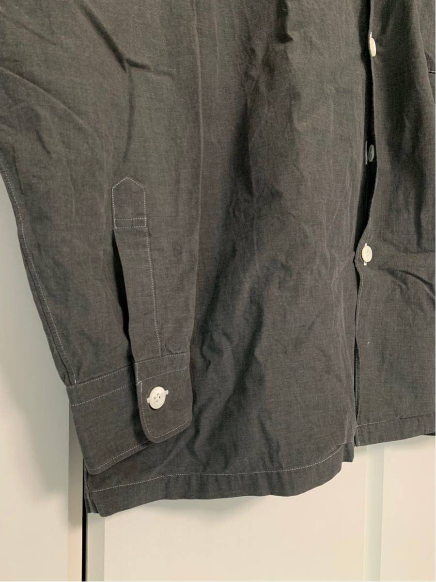 希少 ビンテージ COMME des GARCONS コムデギャルソン 長袖シャツ シャツ ステッチ デザイン オープンカラーシャツ ボタンデザイン ◎ _画像5
