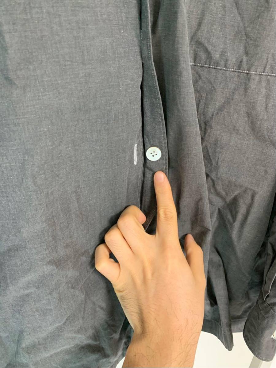 希少 ビンテージ COMME des GARCONS コムデギャルソン 長袖シャツ シャツ ステッチ デザイン オープンカラーシャツ ボタンデザイン ◎ _画像3