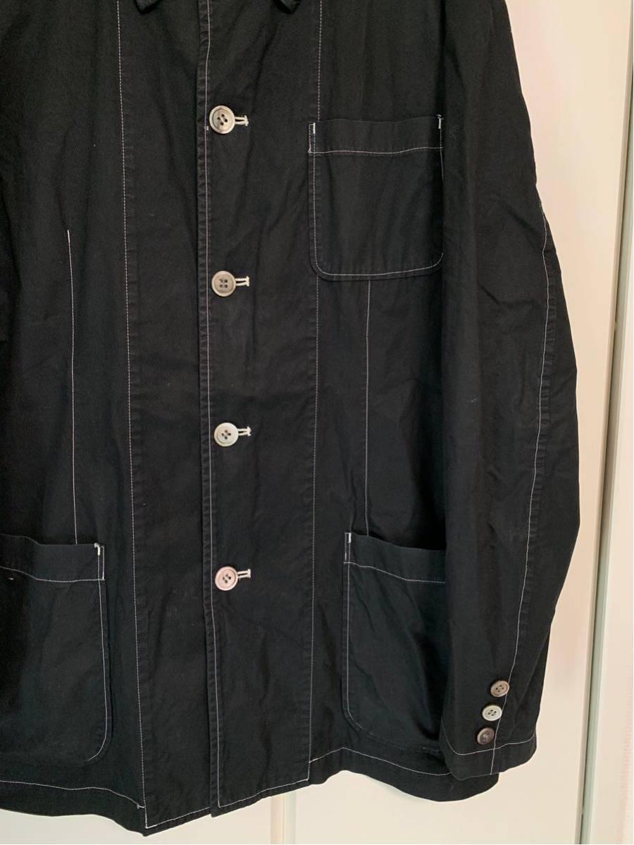 希少 ビンテージ COMME des GARCONS コムデギャルソン 長袖シャツ シャツ ステッチ デザイン オープンカラーシャツ ボタンデザイン ◎ _画像8