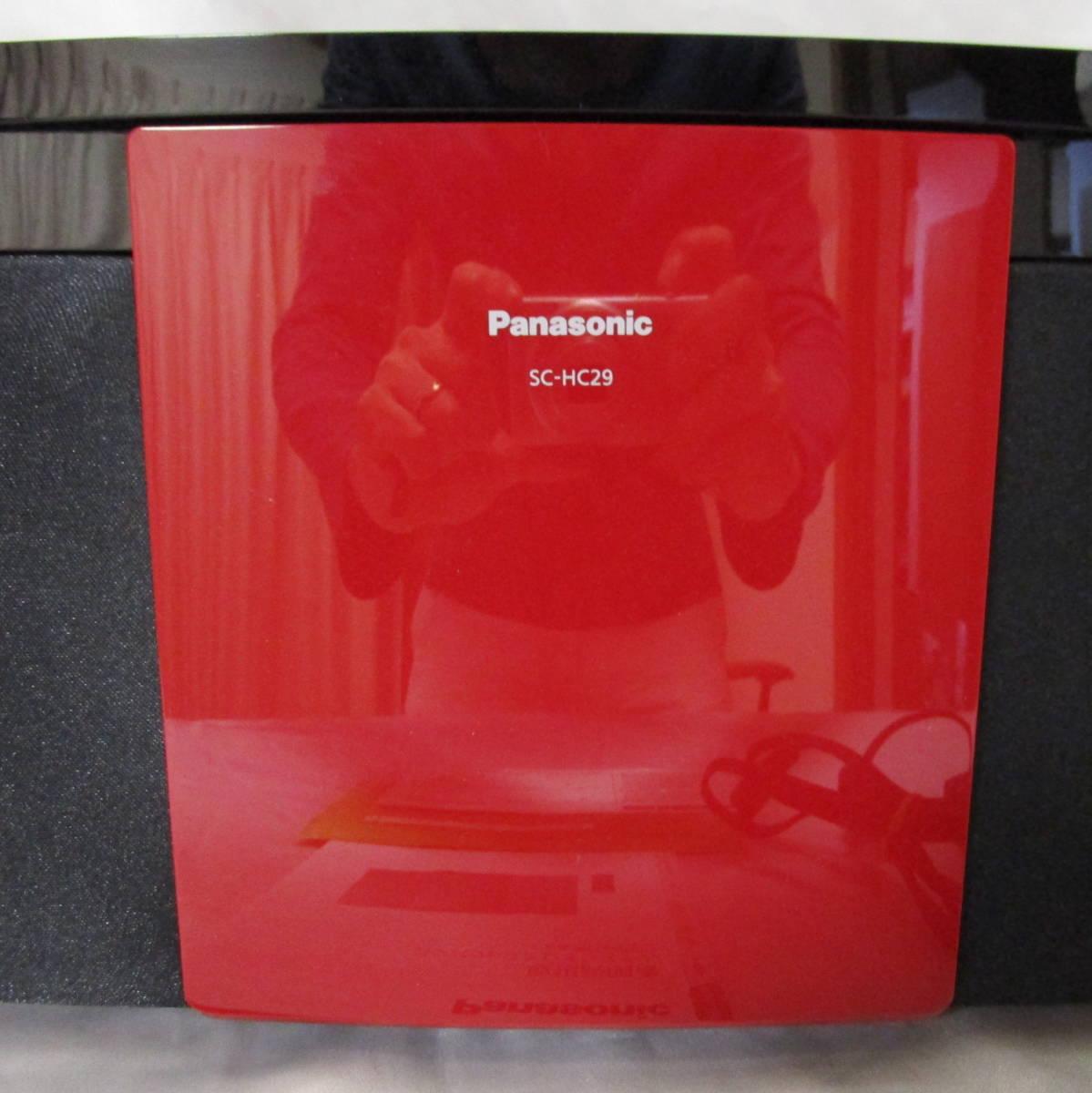 パナソニック Panasonic コンパクトステレオシステム コンポ SC-HC29-R リモコン有り 2015年購入_画像3