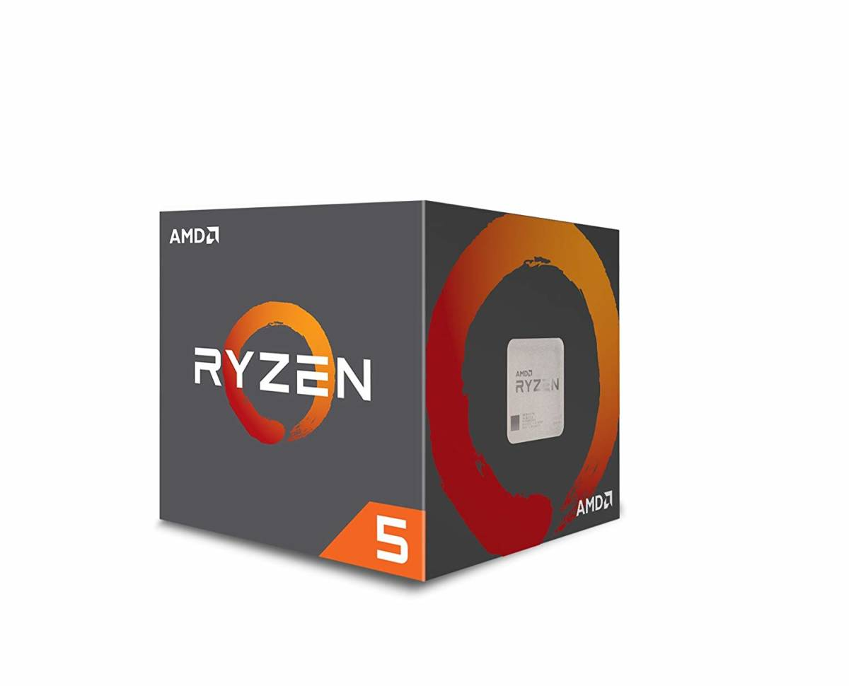 【ほぼ新品】AMD CPU Ryzen 5 2600 with Wraith Stealth cooler YD2600BBAFBOX 【送料無料】