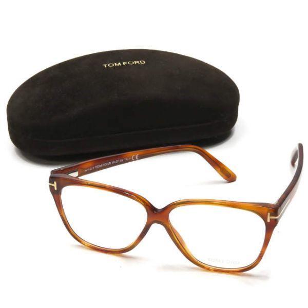 TOM FORD トムフォード イタリア製 TF5302 053 レクタングル メガネ ハバナ 眼鏡 サングラス ☆☆mm7619_画像1
