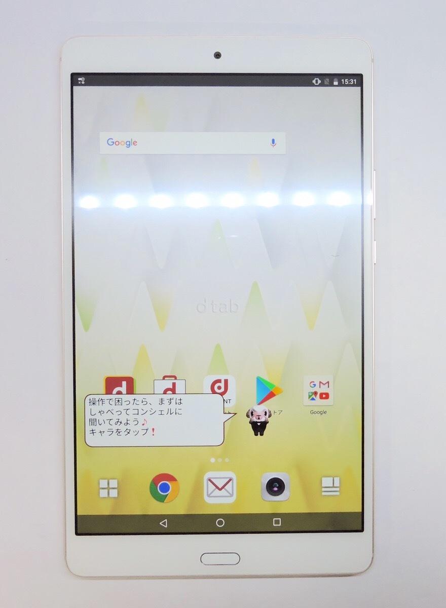★ 中古動作品 ☆Huawei dtab Compact d-01J docomo 16GB ゴールド