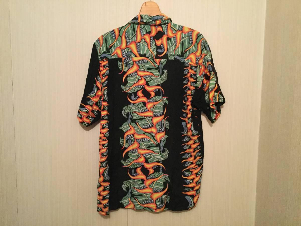 アロハシャツ サザンアイランド M 黒_画像2