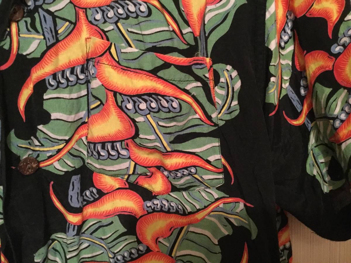 アロハシャツ サザンアイランド M 黒_画像4