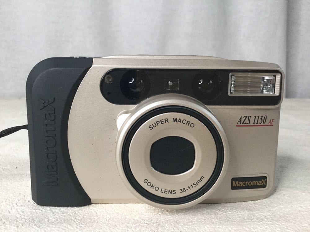 GOKO ゴコー Macromax AZS1150 AF SUPER MACRO GOKO LENS 38-115mm フィルム コンパクトカメラ 写真機 ストラップ ケース付き_画像2