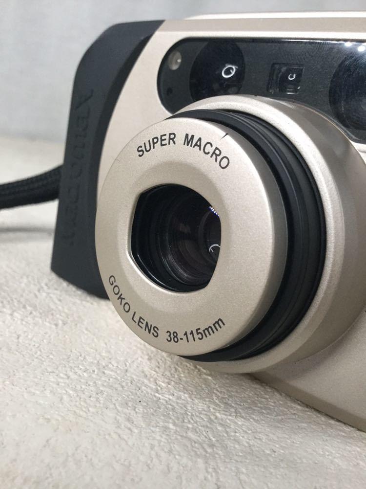 GOKO ゴコー Macromax AZS1150 AF SUPER MACRO GOKO LENS 38-115mm フィルム コンパクトカメラ 写真機 ストラップ ケース付き_画像9