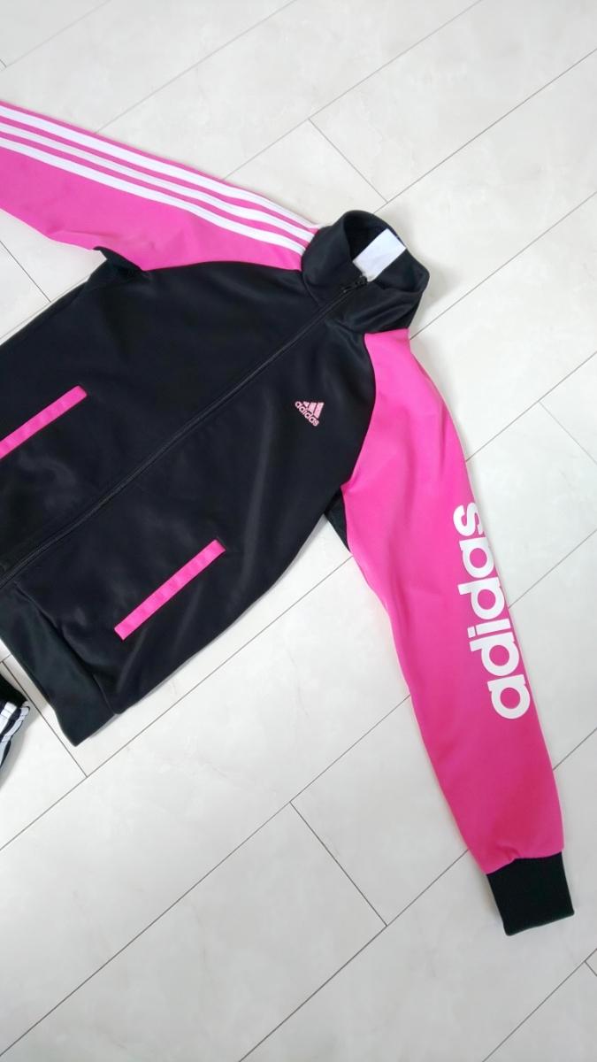 adidas ジャージ 女の子 ハーフパンツ上下 150_画像3