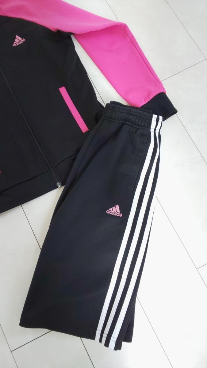 adidas ジャージ 女の子 ハーフパンツ上下 150_画像2
