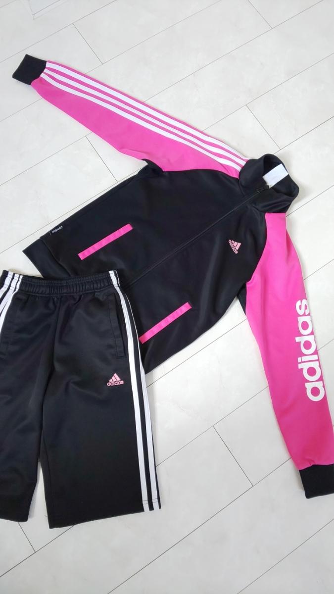 adidas ジャージ 女の子 ハーフパンツ上下 150_画像4