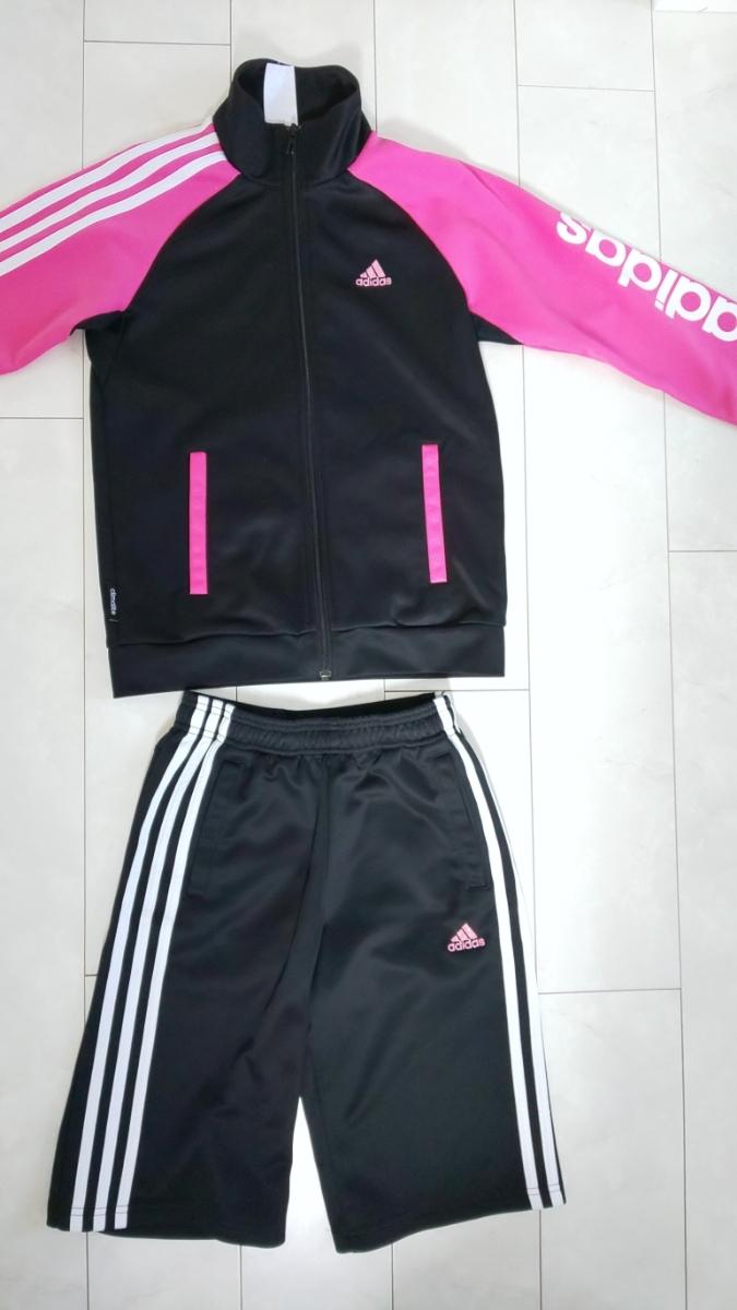 adidas ジャージ 女の子 ハーフパンツ上下 150_画像5
