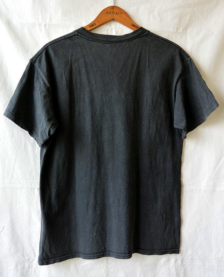 【アメリカ買付/90'sヴィンテージ】moog synthesizer/モーグ ロゴ Tシャツ/ブラック×ターコイズブルー/M/シンセサイザー/アメリカ製/レア_画像2
