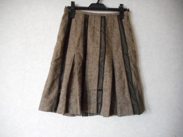 ★チアリーディングのようなデザイン★スカート ストライプ ウール /cledevers(クレデヴェール)_画像1