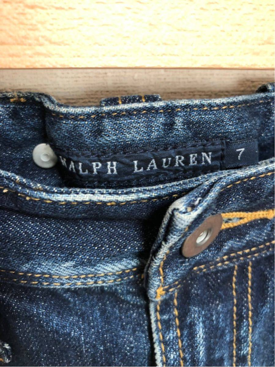 RALPH LAUREN ラルフローレン デニムスカートサイズ7(160相当)_画像3