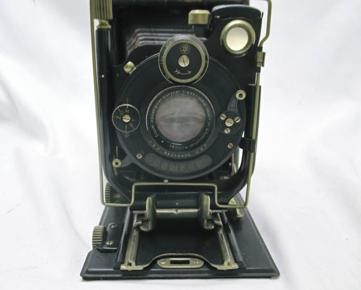 蛇腹カメラ COMPUR レンズ RODENSTOCK Munchen DOPPEL ANASTIGMAT ERYNAR 1:4.5 F=10.5cm★ジャンク 【a0460523】_画像3