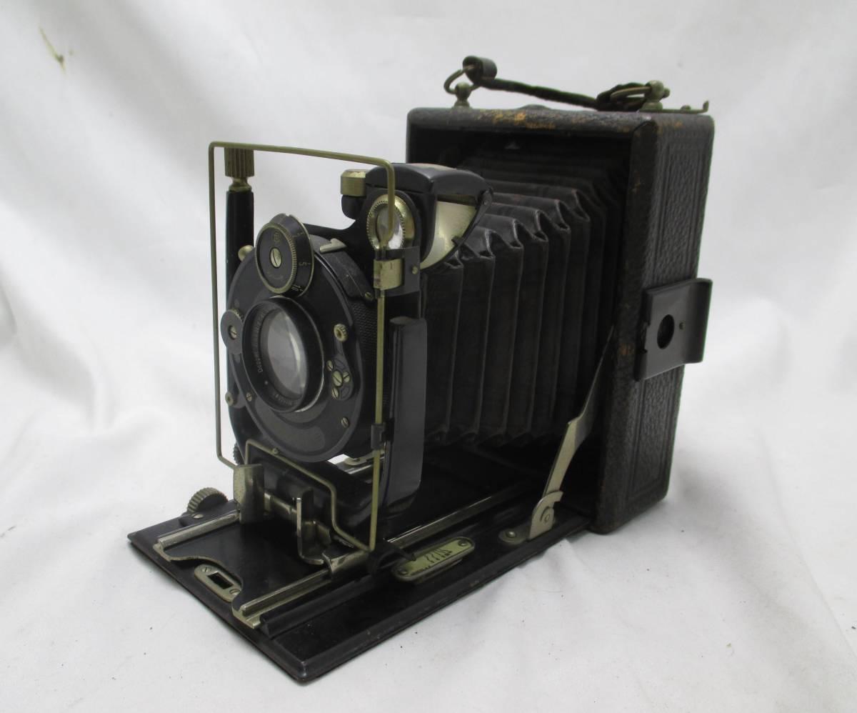 蛇腹カメラ COMPUR レンズ RODENSTOCK Munchen DOPPEL ANASTIGMAT ERYNAR 1:4.5 F=10.5cm★ジャンク 【a0460523】