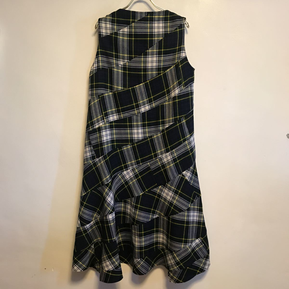 tricot COMME des GARCONS タータンチェック  ワンピース_画像4
