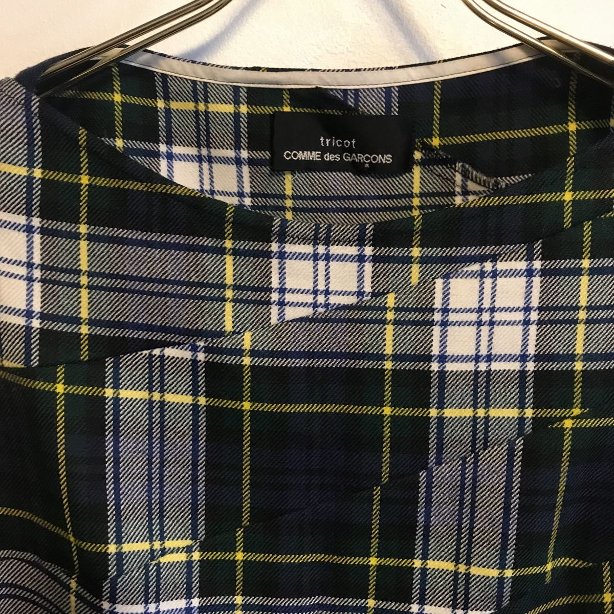 tricot COMME des GARCONS タータンチェック  ワンピース_画像8