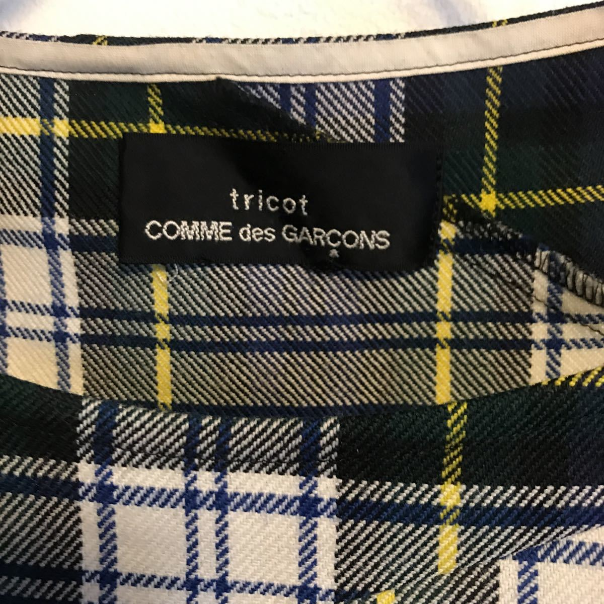 tricot COMME des GARCONS タータンチェック  ワンピース_画像9