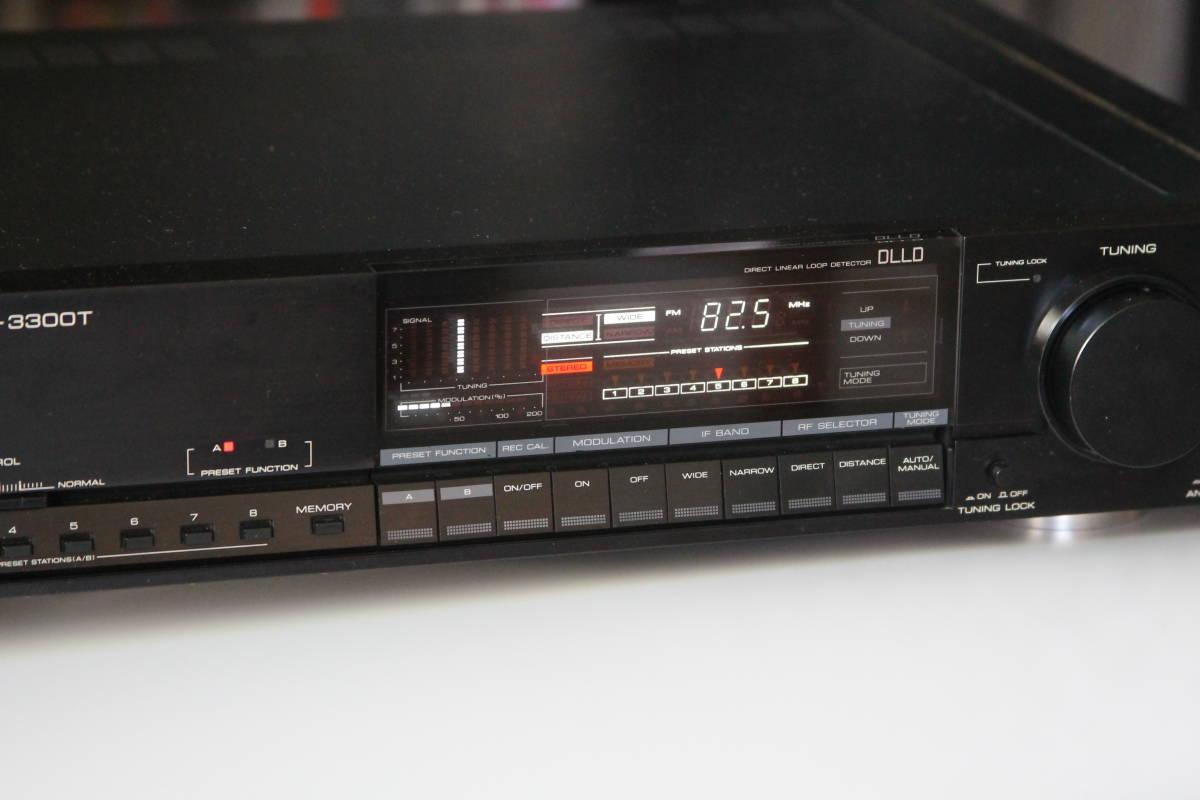 D-3300T KENWOOD 最後の最高性能FM専用ステレオチューナー、整備完動品、美品。_画像3
