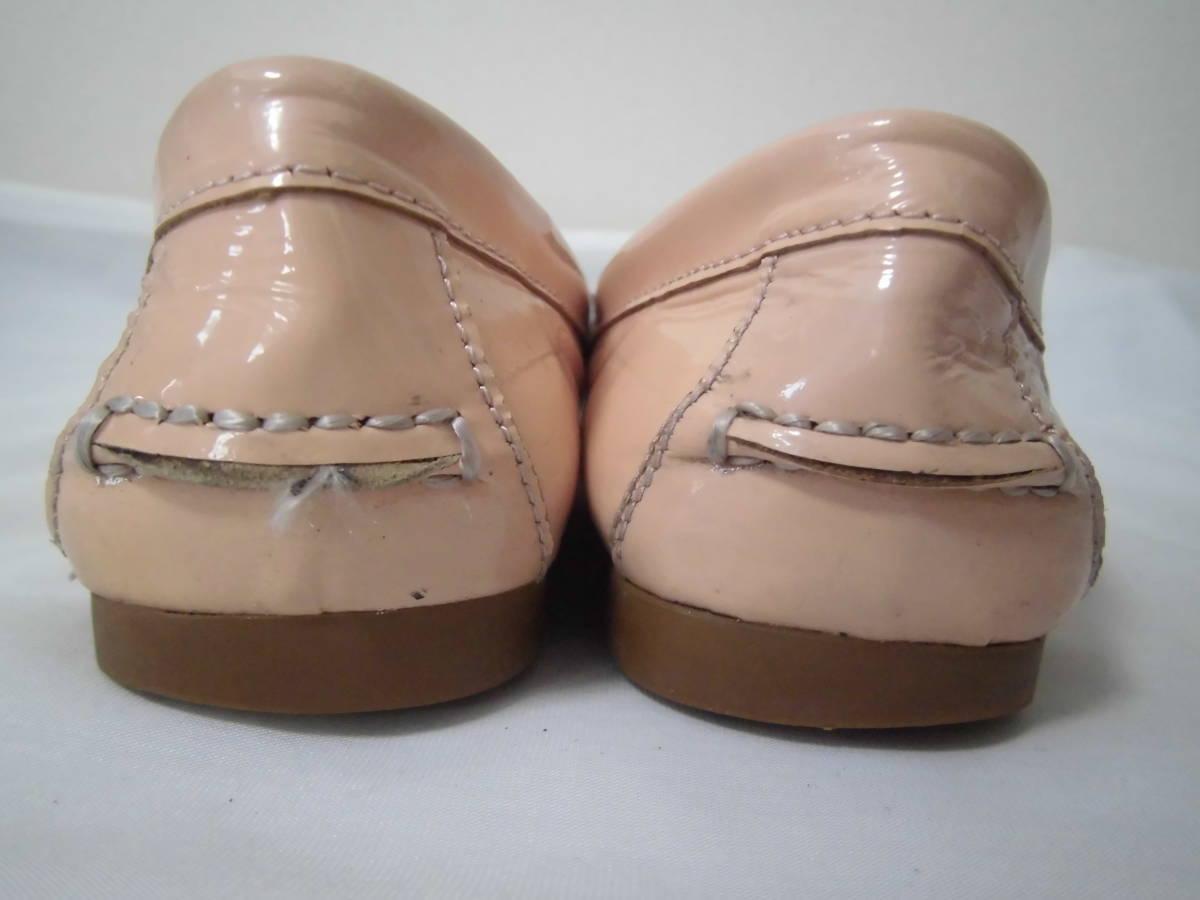 6518f677b773 COACH NEW YORK コーチ 靴 シューズ レディース ローファー シンプル オシャレ ピンクベージュ 22.5㎝_画像