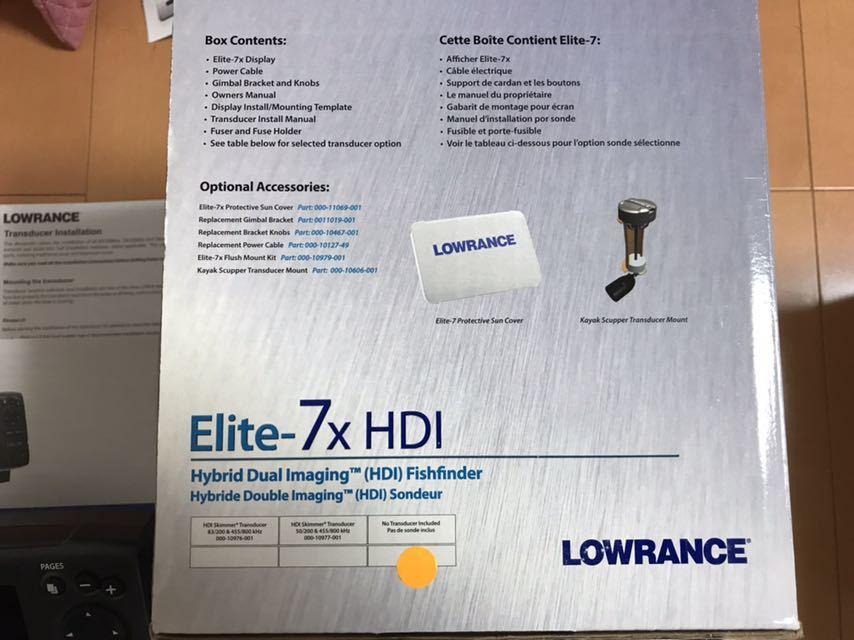 ★ローランス LOWRANCE ELITE-7×HDI 魚探 振動子付 未使用品★_画像9