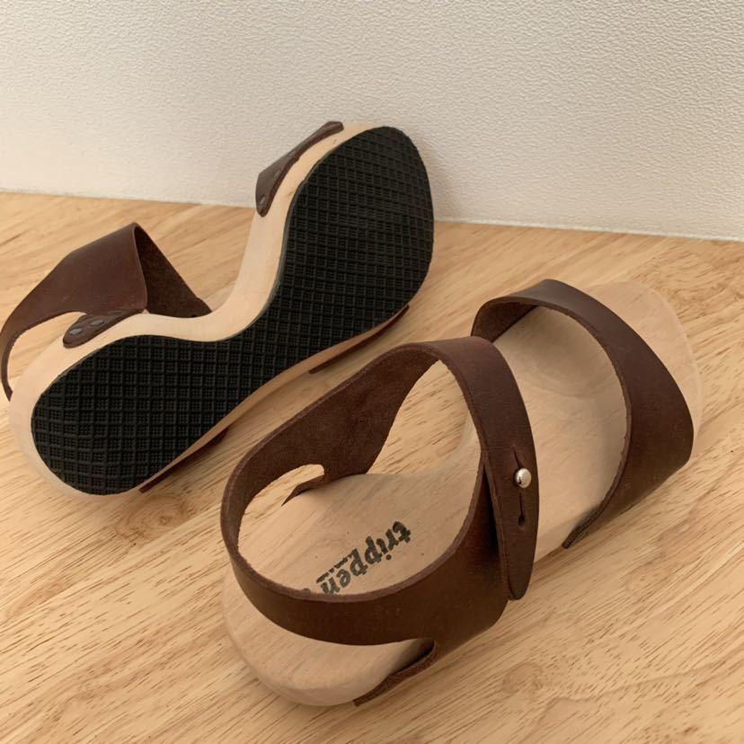 新品★trippen ウッド レザーサンダル joy ブラウン 36 ジョイ 茶色 トリッペン 靴 ドイツ_画像5