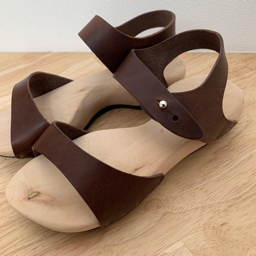 新品★trippen ウッド レザーサンダル joy ブラウン 36 ジョイ 茶色 トリッペン 靴 ドイツ_画像6