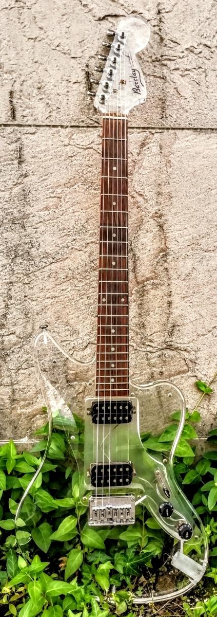 ★Barclay Jazzmaster type アクリル エレキギター バークレイ/バークレー ジャズマスタータイプ クリア/透明/クリスタル/スケルトン