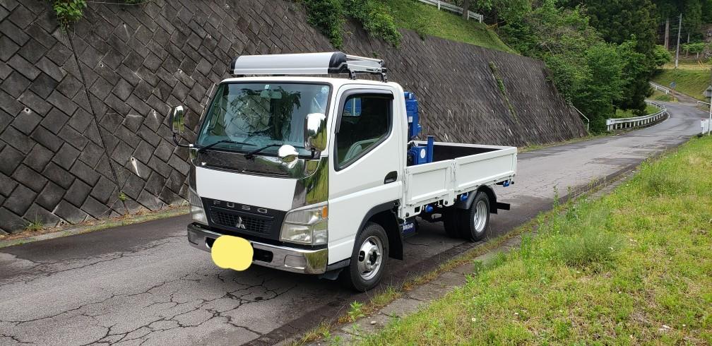 キャンター 4WD クレーン付  車検付 すぐに使用できます。_画像1
