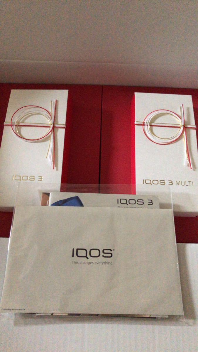 激安新品iQOS3&iQOS3 マルチ 日本祝賀限定モデル 本体キット 2台セット_画像5