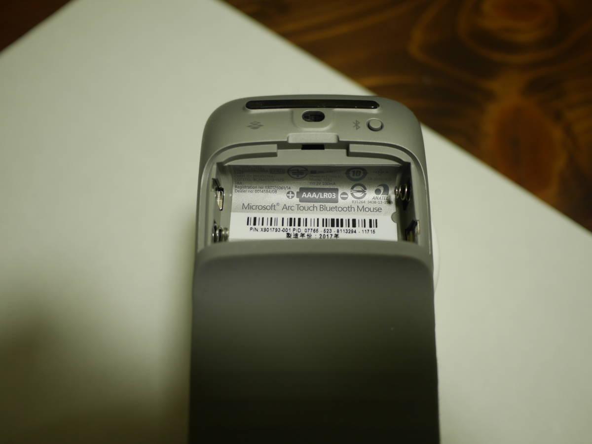 ☆中古美麗☆彡マイクロソフト マウス Bluetooth対応/ワイヤレス/薄型/小型 Arc Touch Bluetooth Mouse 7MP-00018_画像4