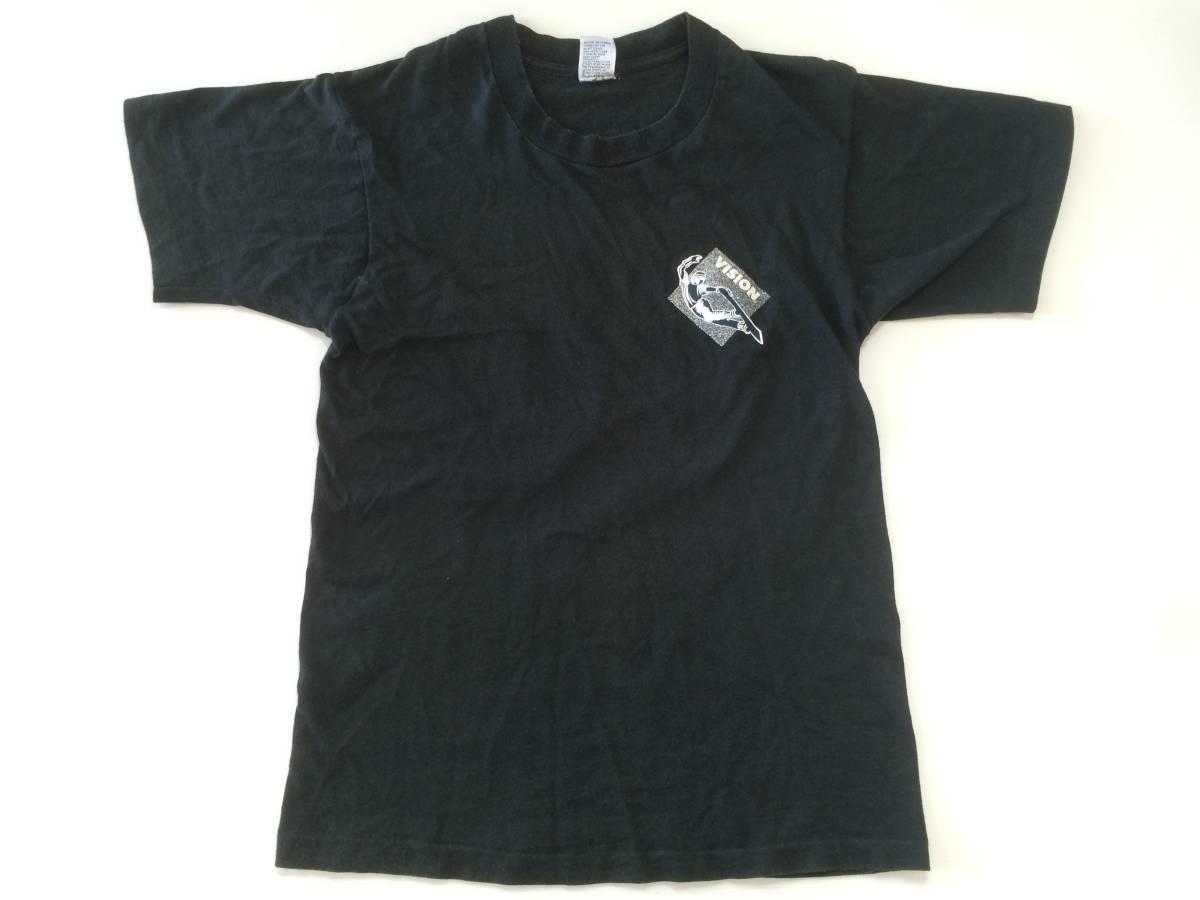 80~90s USA製 ビンテージ VISION Tシャツ 黒 M AIR TIME スケート_画像2