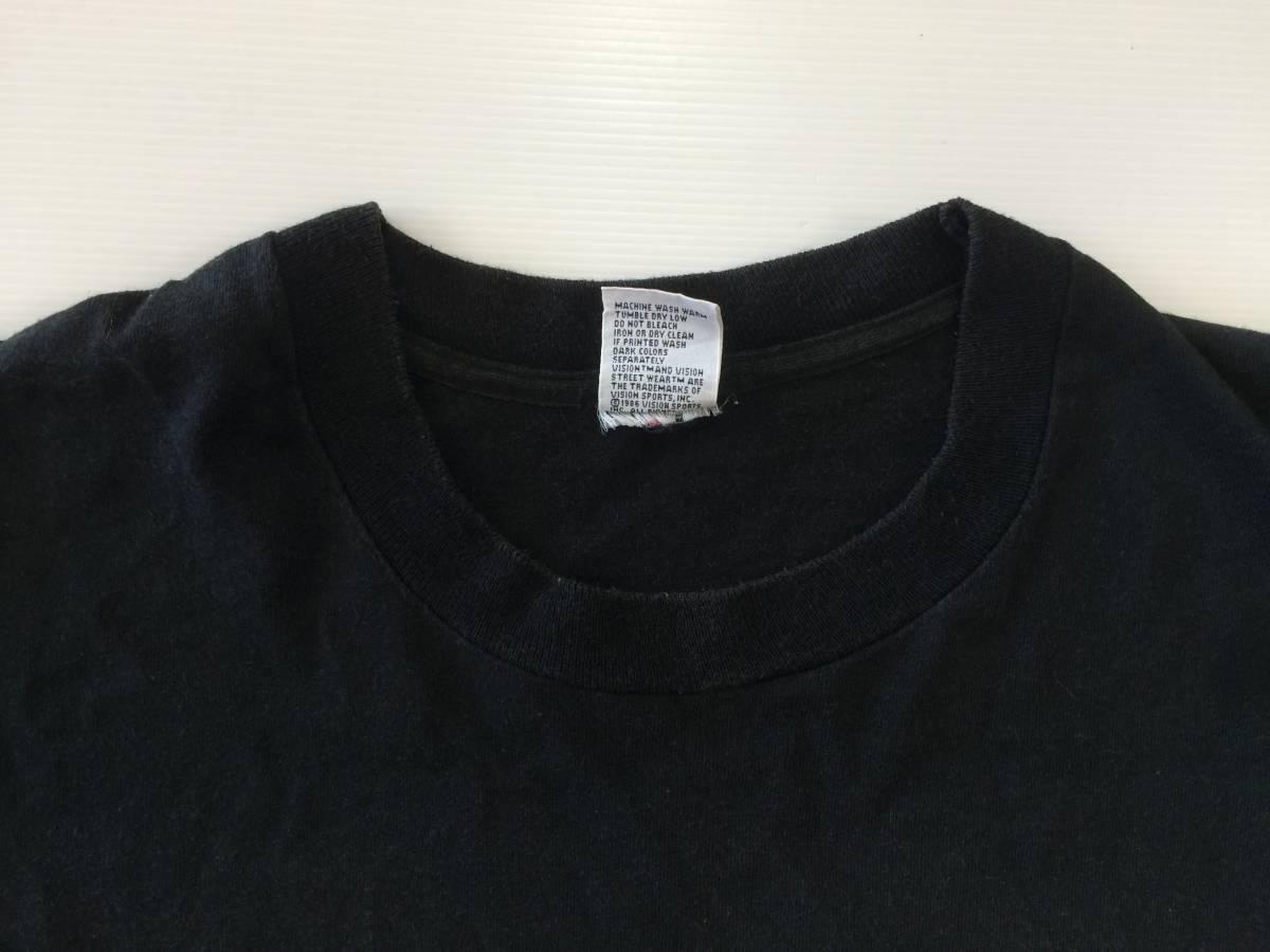80~90s USA製 ビンテージ VISION Tシャツ 黒 M AIR TIME スケート_画像3