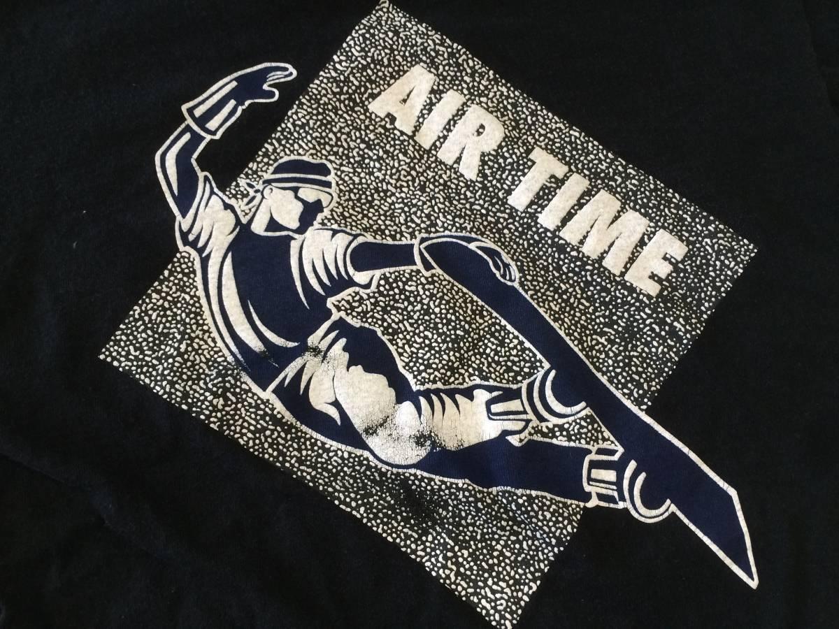 80~90s USA製 ビンテージ VISION Tシャツ 黒 M AIR TIME スケート_画像5
