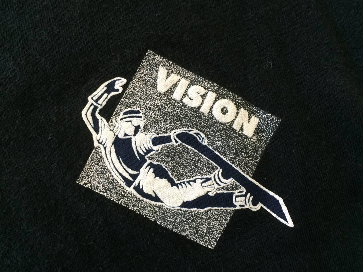 80~90s USA製 ビンテージ VISION Tシャツ 黒 M AIR TIME スケート_画像6
