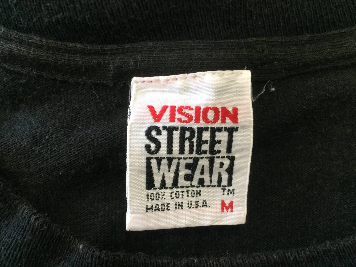80~90s USA製 ビンテージ VISION Tシャツ 黒 M AIR TIME スケート_画像7