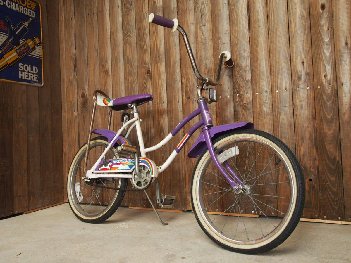 Vintage Bicycle Murray Over The Rinbow Murray Over The Rainbow Schwinn Stingray Rainbow Pegasus Purple White Beach Cruiser