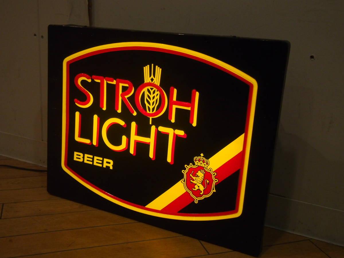 ビンテージ ライトサイン strohs ストローズ ビール ネオン 看板 壁掛け 照明 ディスプレイ インテリア バー アメリカン ダイナー #2_画像2