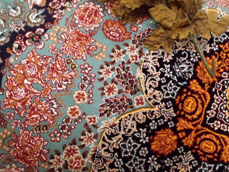【ペルシャ絨毯】家具上品で美しい色調の逸品 高級ペルシャ絨毯 150万縫い針 ウール/シルク 大判!サイズ200cm*290cm ★高級感満載★_画像6