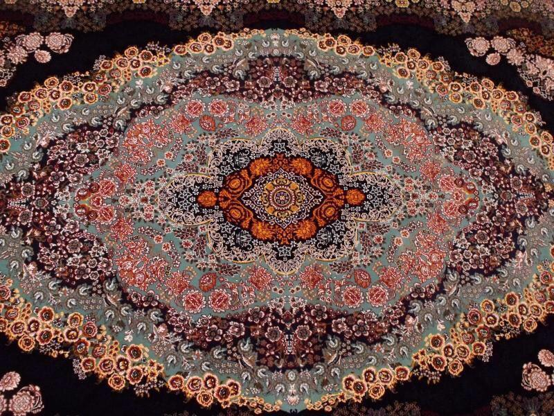 【ペルシャ絨毯】家具上品で美しい色調の逸品 高級ペルシャ絨毯 150万縫い針 ウール/シルク 大判!サイズ200cm*290cm ★高級感満載★_画像7