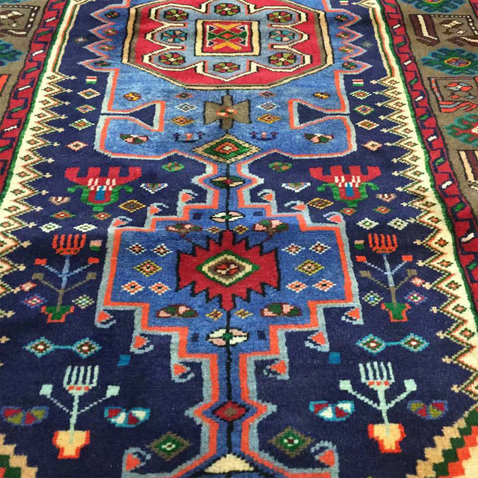 ◆新入荷◆最高級手織りペルシャ絨毯 家具 カーペット 高密度 高級感満載 イラン産 シルク/ウール 1.45m*1m_画像2
