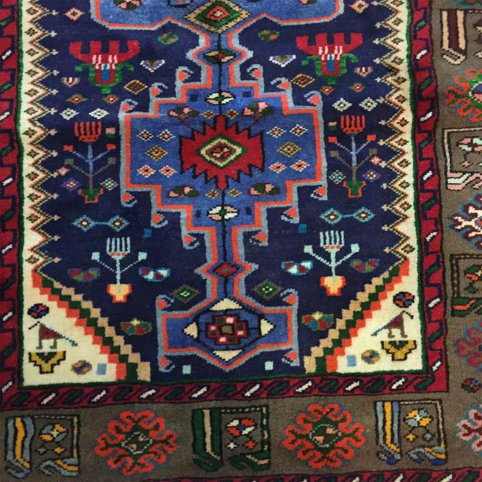 ◆新入荷◆最高級手織りペルシャ絨毯 家具 カーペット 高密度 高級感満載 イラン産 シルク/ウール 1.45m*1m_画像3