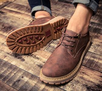 No02087品質保証100% 男性用靴 マーティンブーツ ハイカット イングランド風 サイズ(選択可)_画像4