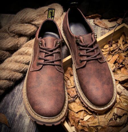 No02087品質保証100% 男性用靴 マーティンブーツ ハイカット イングランド風 サイズ(選択可)