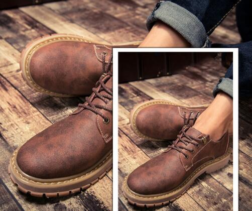 No02087品質保証100% 男性用靴 マーティンブーツ ハイカット イングランド風 サイズ(選択可)_画像2