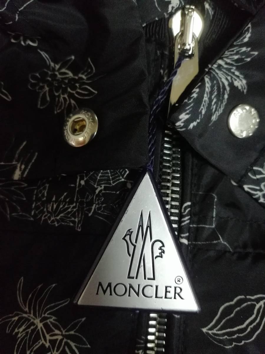新品【MONCLER/モンクレール】柄入りナイロンジャンパー☆未使用正規品☆サイズ0_画像5
