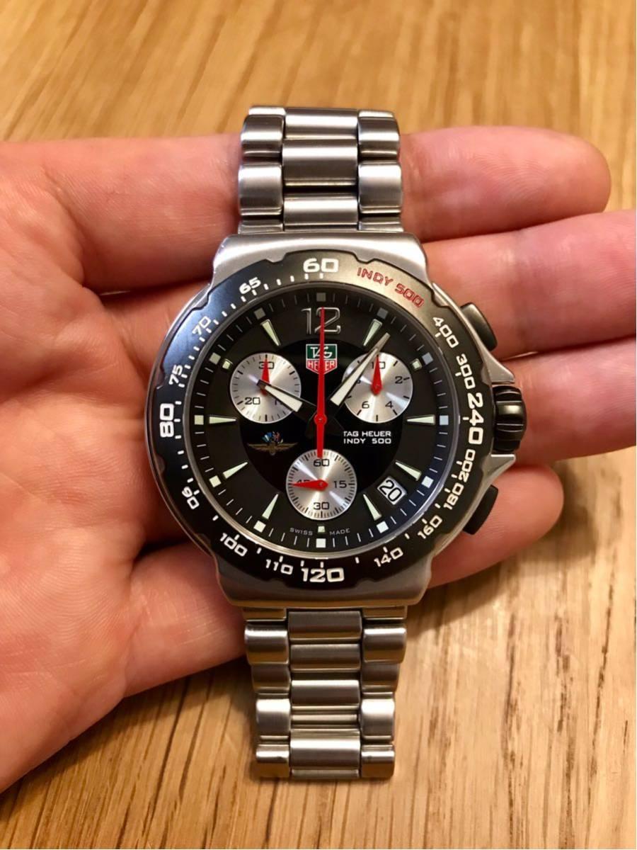 TAGHEUER タグホイヤー インディ500 クロノグラフ メンズ 腕時計 INDY500 フォーミュラ1 _画像2